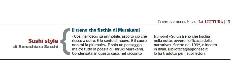 lettura corriere della sera Murakami inedito