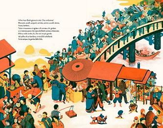 Issun Boshi favola giapponese tradizionale bambini ponte