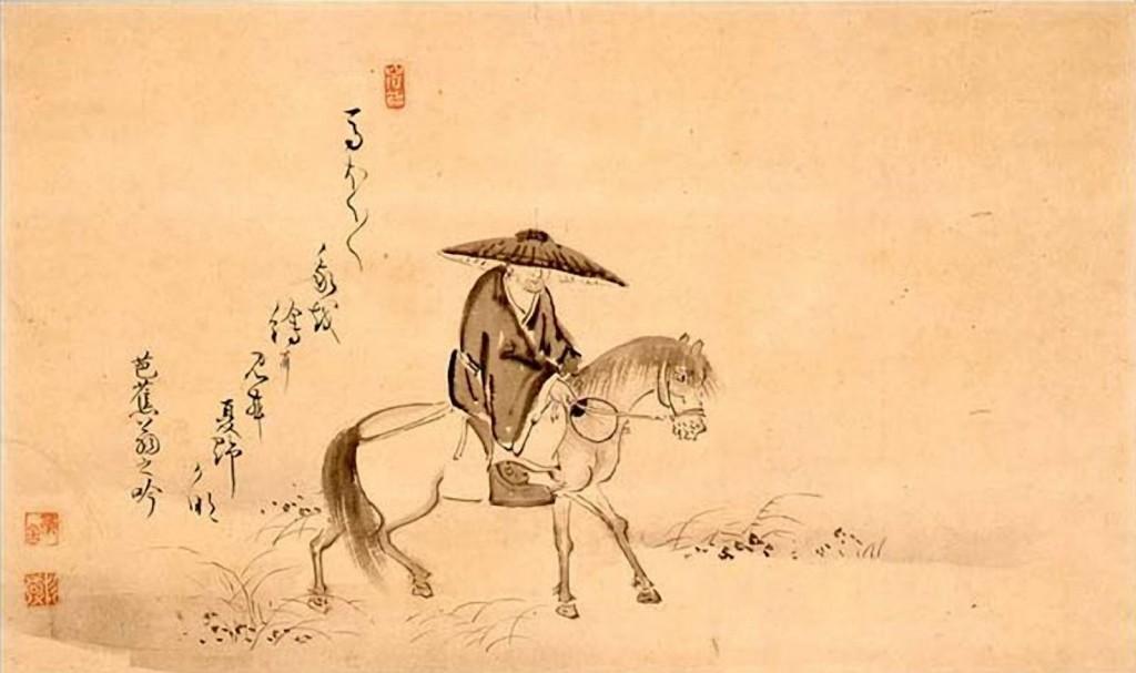 Basho Riding a Horse by Sugiyama Sanpu