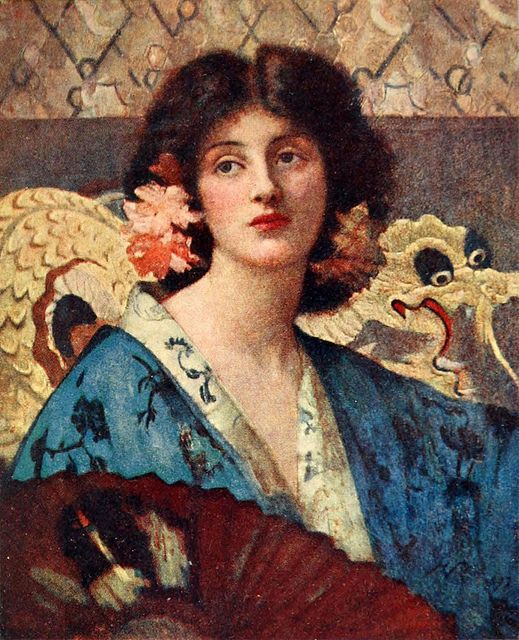 Henrietta Rae (1859-1928) Azaleas